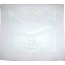 Masonic Past Master Apron All White