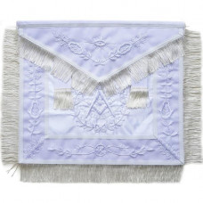 Masonic All White Past Master Apron With Wreath