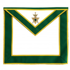 Allied Masonic Degree AMD Past Sovereign Master Apron Hand Embroidered Green Motif