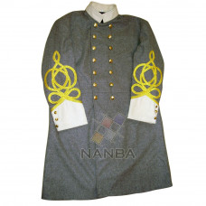 Civil War Grey Double Breasted Frock Coat
