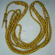 GOLD AND BURGUNDY WIRE AIGUILLETTE