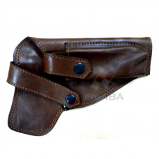 9MM LEATHER PISTOL COVER BROWN