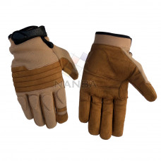 Brown padded tactical gloves
