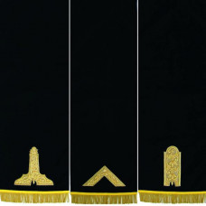 Masonic Blue Lodge Pedestal Covers Hand Embroidered - Set Of Three