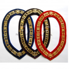 Masonic Chain Collars - Mix (red, pruple And blue)