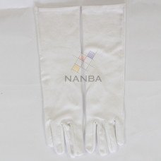 White Cotton Gloves Extra Long