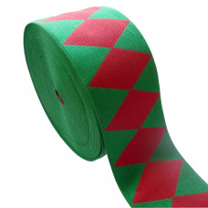DIAMOND RED AND GREEN RIBBONS