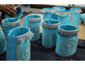 Packaging of Masonic Handmade Embroidery Cuffs/Gauntlets